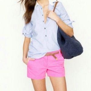 J. CREW pink garment dyed chino shorts S 4
